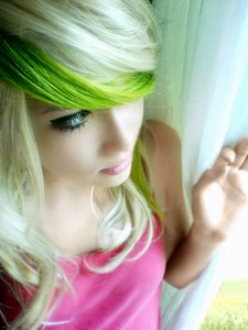 Olive Green Hhair Chalk Hair Chalking Pastels Temporary Hair Color